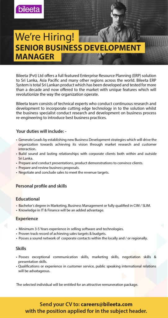 Senior Business Development Manager