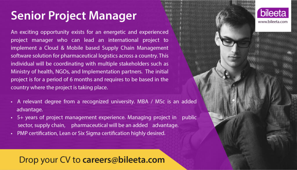 Senior Project Manager vacancy